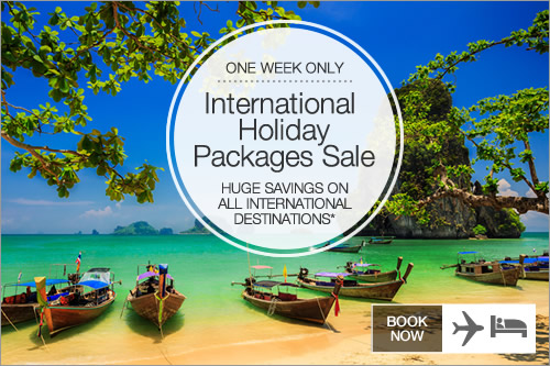 International Packages Sale on now