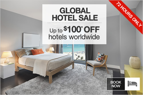 Up to $100 OFF hotels worldwide